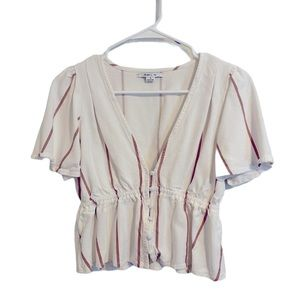 ONEIL Red & White Short Sleeve Top